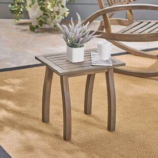 Vanhorn Outdoor Wooden Side Table