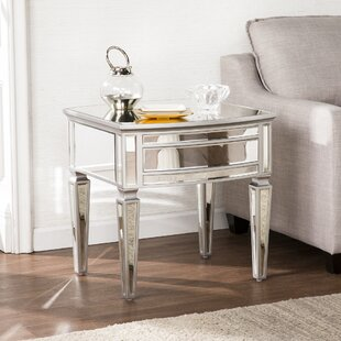 Elosie Mirrored End Table