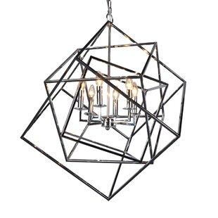 Brayden Studio Milian 6-Light Geometric Chandelier
