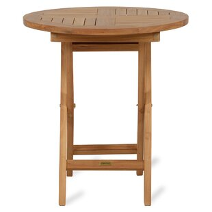 Quickep Folding Teak  Bistro Table By Bay Isle Home