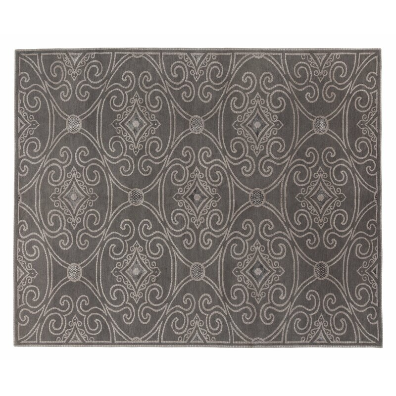 Tufenkian Marquis Geometric Hand Knotted Gray Area Rug Wayfair