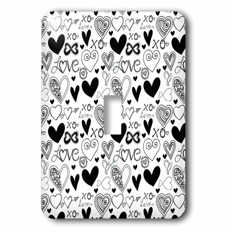3drose Love Hearts 1 Gang Toggle Light Switch Wall Plate Wayfair