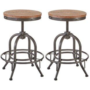 Charlita Adjustable Height Swivel Bar Stool (Set of 2) by Williston Forge