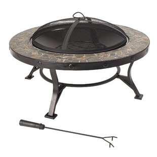 Pleasant Hearth Charlotte Steel Wood Burning Fire Pit Table