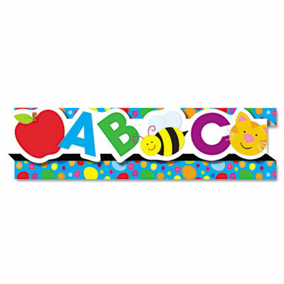 Carson Dellosa Publishing Abcs 123s8 Pop It Border And 8 Strips Pack Classroom Border Wayfair