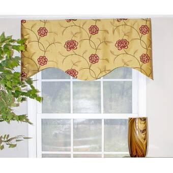 August Grove Heritage House Gathered 72 Window Valance Wayfair