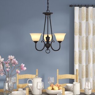 Charlton Home Almont 3-Light Shaded Chandelier