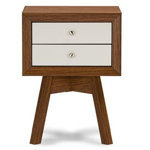 George Oliver Pesce Modern 2 Drawer Nightstand