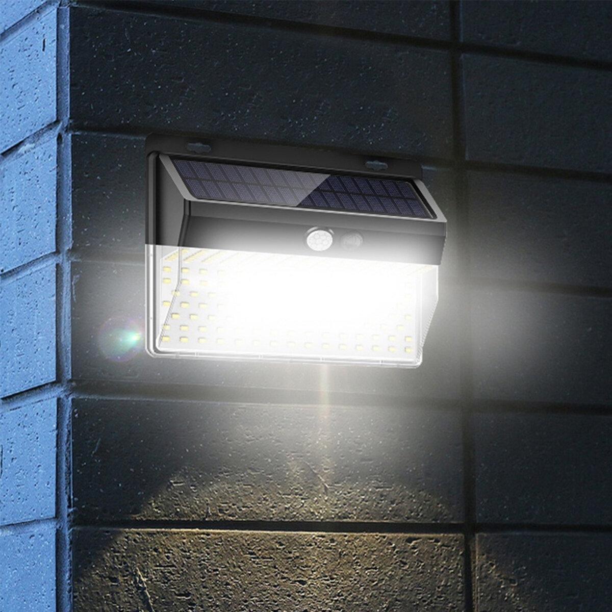4 PCS 86 LED Solar Lights Outdoor Motion Sensor Security Deck Yard Fence Patio W