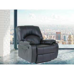 Modern Style Faux Leather Heated Massage Chair by Latitude Run