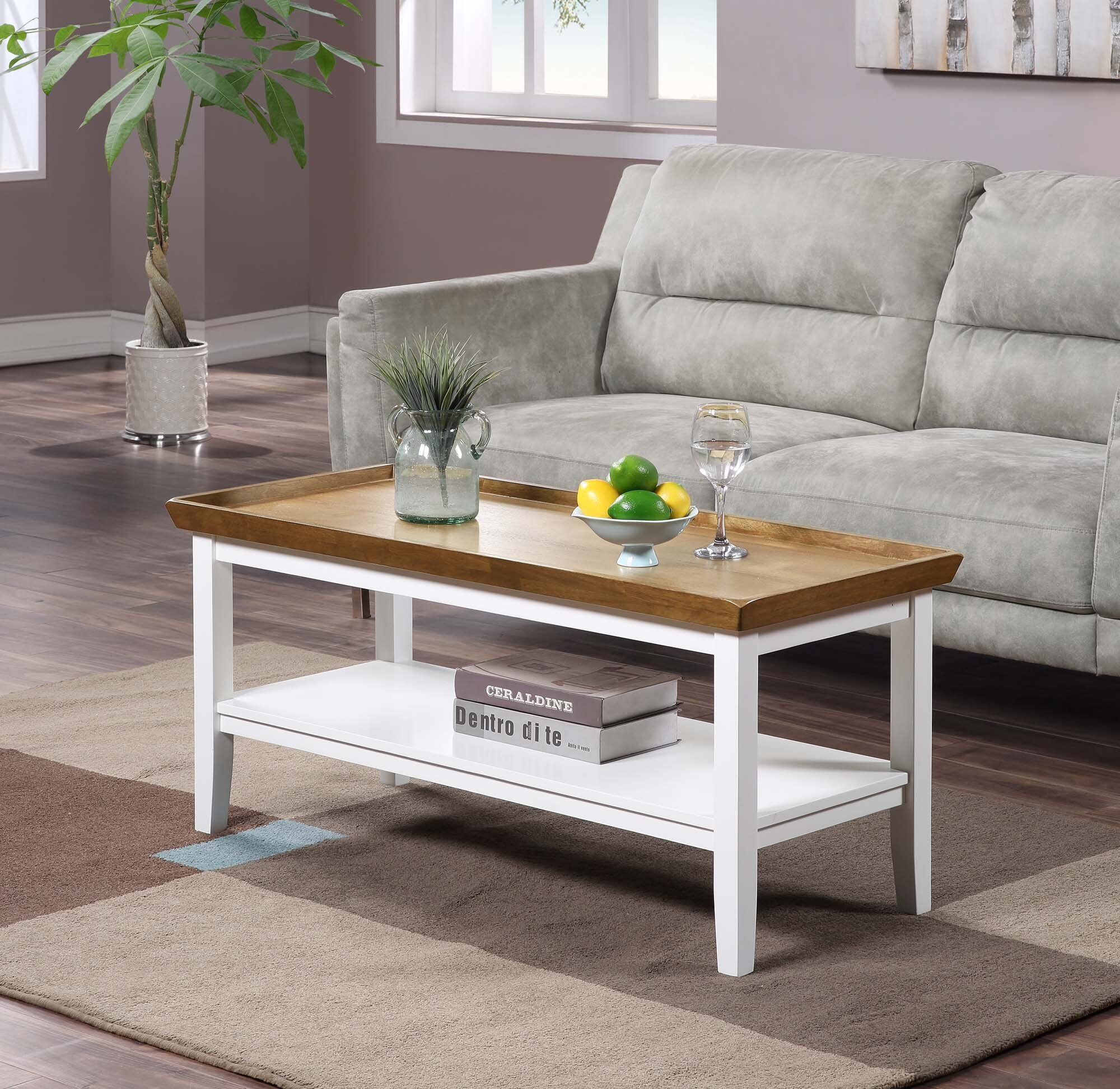 Andover Mills Gwen Solid Wood Coffee Table With Storage Reviews Wayfair [ 1945 x 2000 Pixel ]