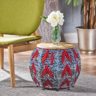Aqueduct Cotton End Table by Bungalow Rose