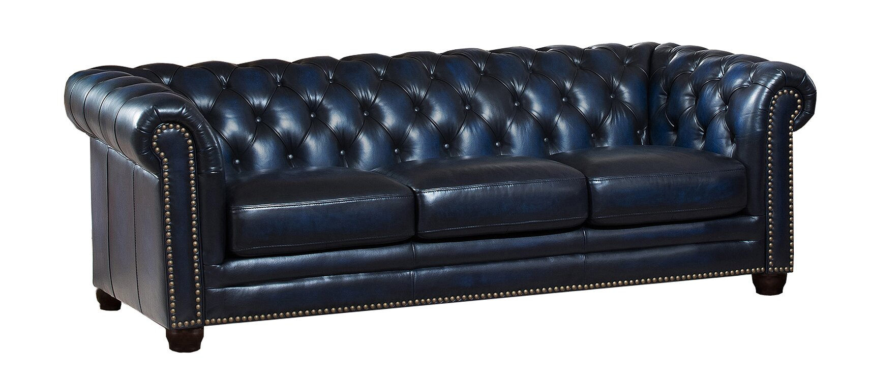 Nebraska Leather Chesterfield Sofa