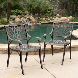 Three Posts Finlayson Patio Dining Chair (Set of 2)