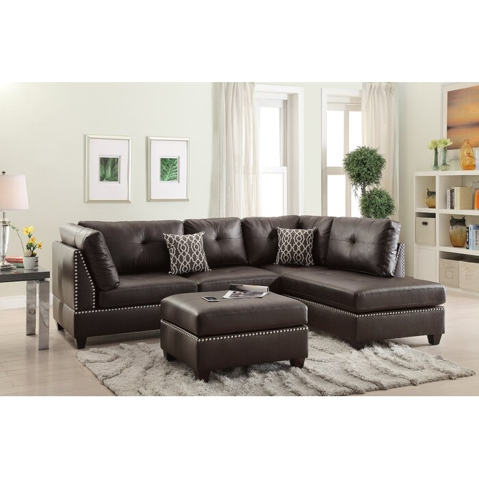 Cool Mario Right Hand Facing Sectional With Ottoman Uwap Interior Chair Design Uwaporg