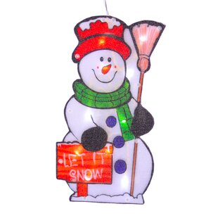 Let It Snow Snowman Suction Hook (Set Of 2) By The Seasonal Aisle