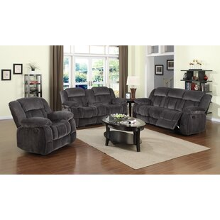Madison Reclining 3 Piece Living Room Set by Sunset Trading