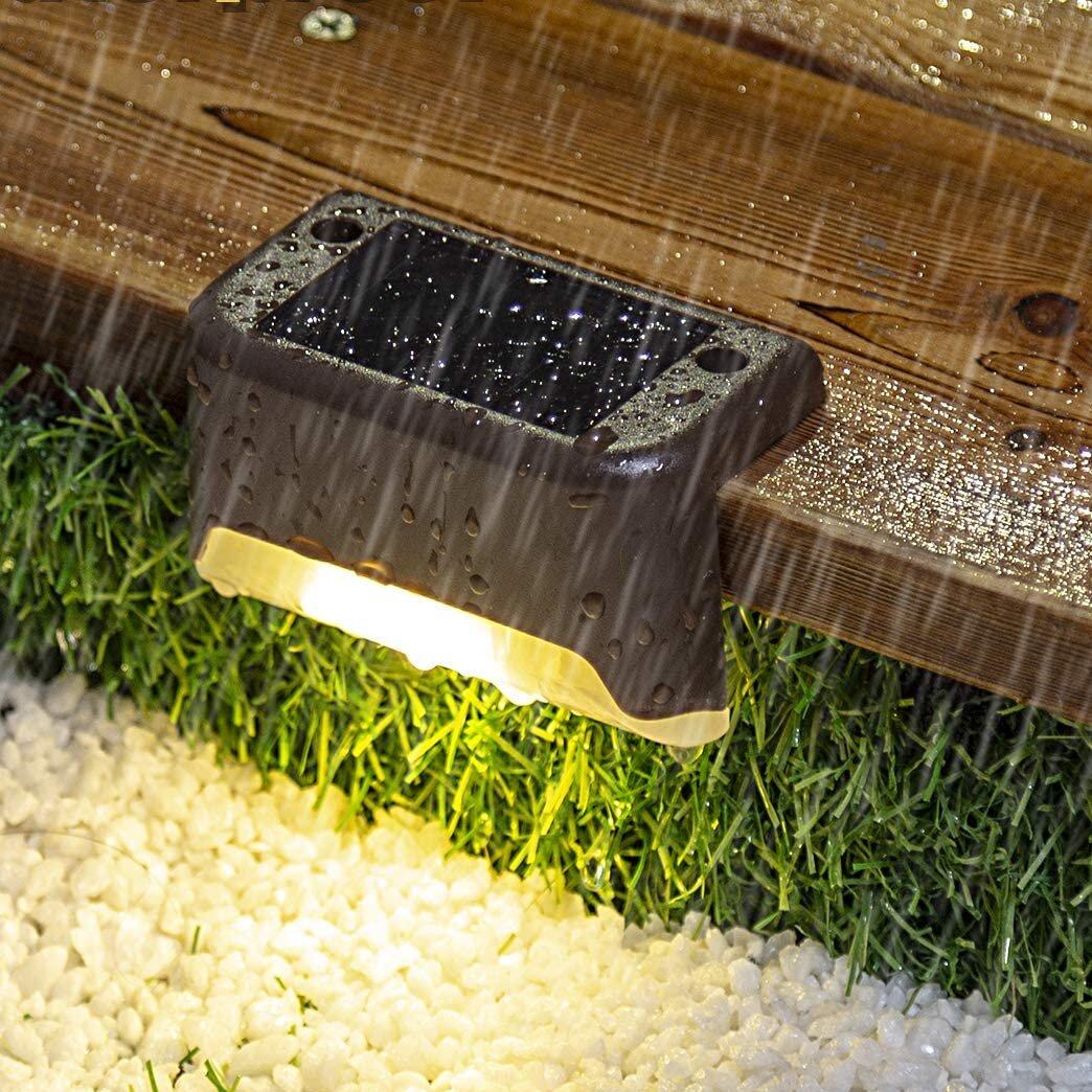Gigalumi Bronze Solar Powered Integrated Led Deck Light Pack Reviews Wayfair