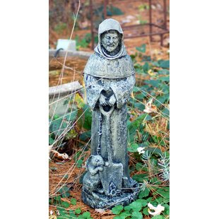 Ladybug Garden Decor St. Fiacre Statue