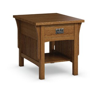 FLW End Table With Drawer By Caravel