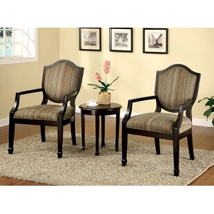 Brucie 3 Piece Accent Armchair Set