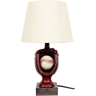 Sports table lamps youll love wayfair baseball 18 table lamp mozeypictures Images
