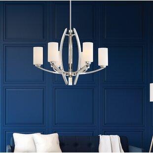 Savings Glimrende 6-Light Shaded Chandelier By Metropolitan by Minka