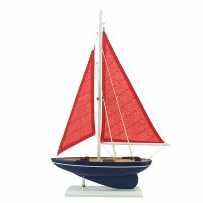 Handcrafted Nautical Decor American Paradise Model Sailboat