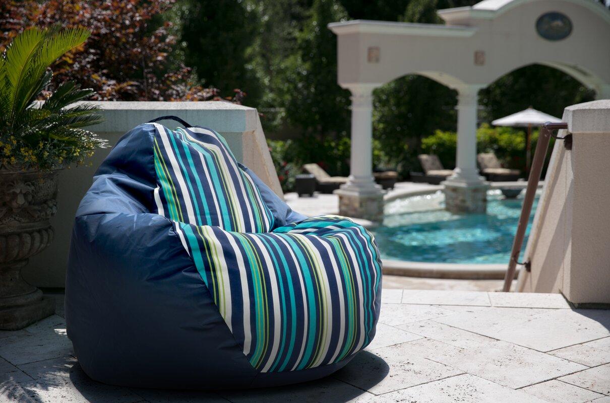 Big Joe Outdoor Teardrop Cozumel Stripe Bean Bag Chair