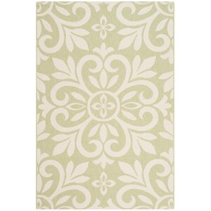 Bloomfield Beach Ivory/Green Area Rug