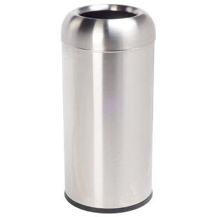 Stainless Steel 11 Gallon Open Curbside Trash & Recycling Bin By Cosmopolitan Furniture