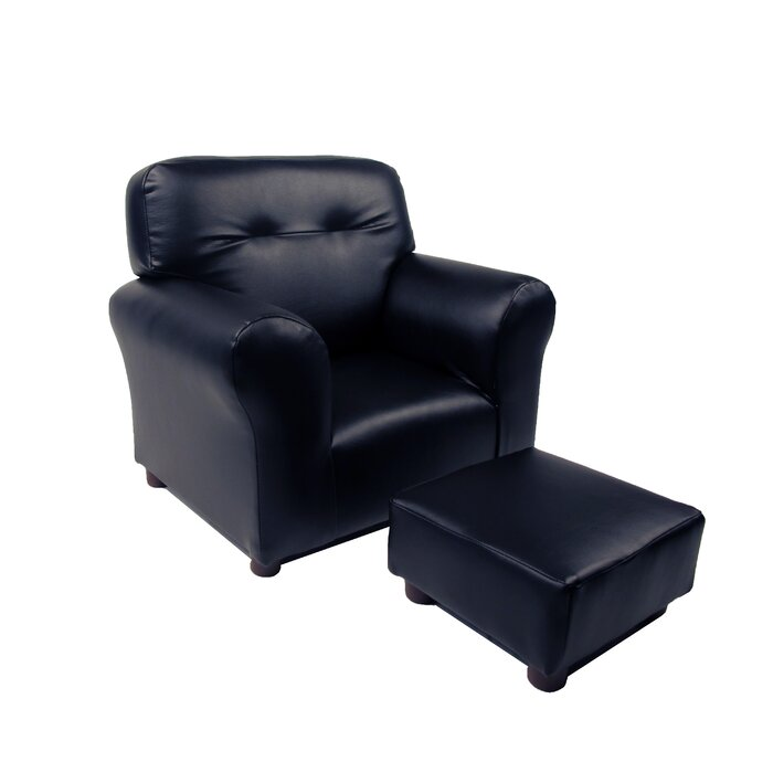 Astounding Dawlish Kids Recliner And Ottoman Pabps2019 Chair Design Images Pabps2019Com