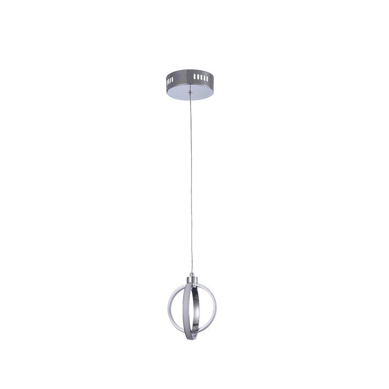 Orren Ellis Harwood LED Globe Pendant