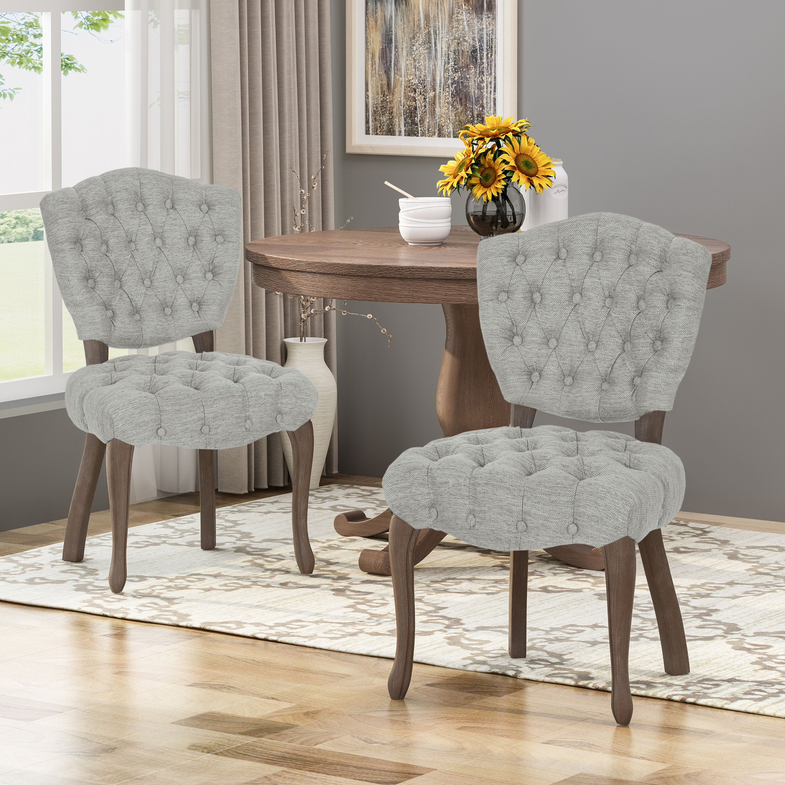 One Allium Way Marielle Tufted Upholstered Dining Chair Reviews Wayfair