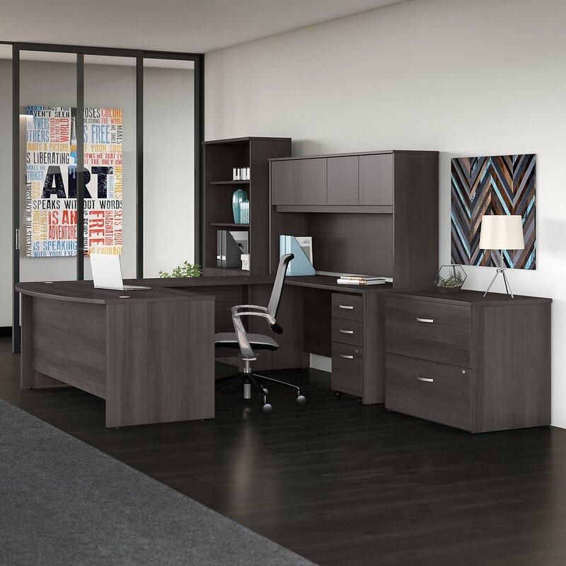 studio c 7 piece u shaped desk office suite