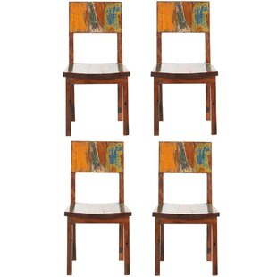 Anna Reclaimed Boat Solid Wood Dining Chair (Set Of 4)