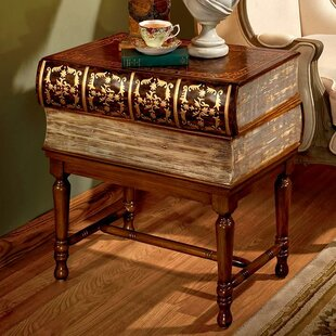 Design Toscano Stacked Books of Shakespeare Wooden End Table