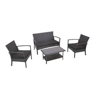 Bane 4 Piece Conversation Set with Cushions