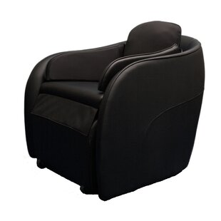 Leather Full Body Heated Massage Chair with Ottoman by Omega Massage