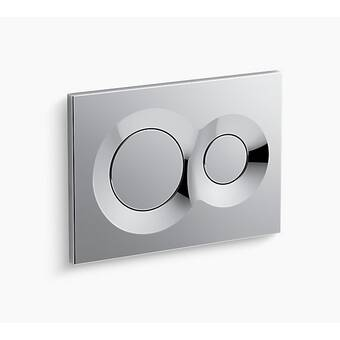Kohler 4177-CP Inwall FACE Droplet Flush actuator plate for 2x4 in-wall tank and carrier system; Polished Chrome 2 x 4,