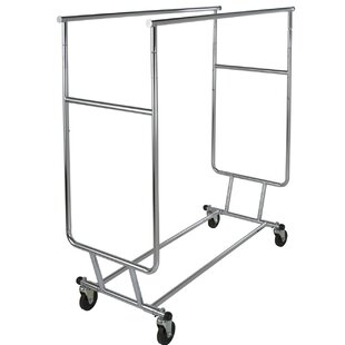 Purchase Double Rail 55 W Rolling Clothing Rack By Econoco