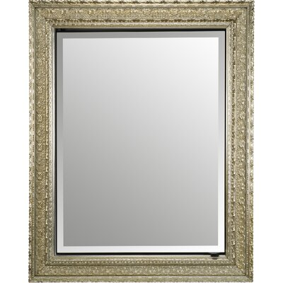 Mirrored Bevelled Photo Frame In Antique Silver With Detailed Edge 8x10