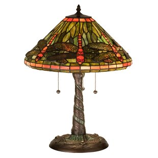 Dragonfly with Twisted Fly Mosaic Base 21 Table Lamp