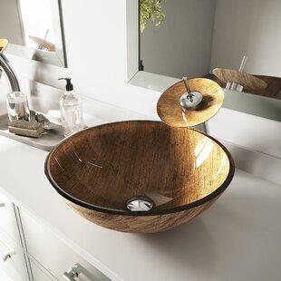 Best Glass Circular Vessel Bathroom Sink ByVIGO