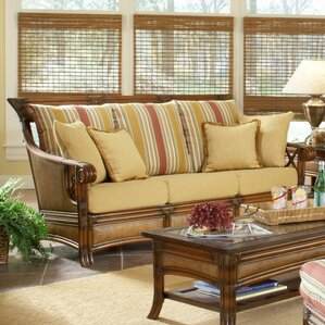 Pacifica Bamboozel Plantain Sofa by South Sea Rattan