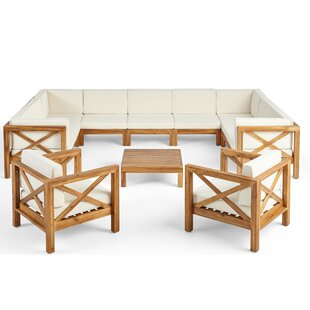 Mead Outdoor 4 Piece Deep Seating Group with Cushions by Breakwater Bay