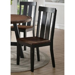 Whittingham Slated Dining Chair (Set of 2) Millwood Pines