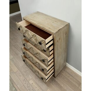 Union Rustic Casson Transitional Wood 5 Drawer Chest