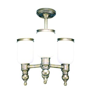 Elma 3-Light Semi Flush Mount by Darby Home Co