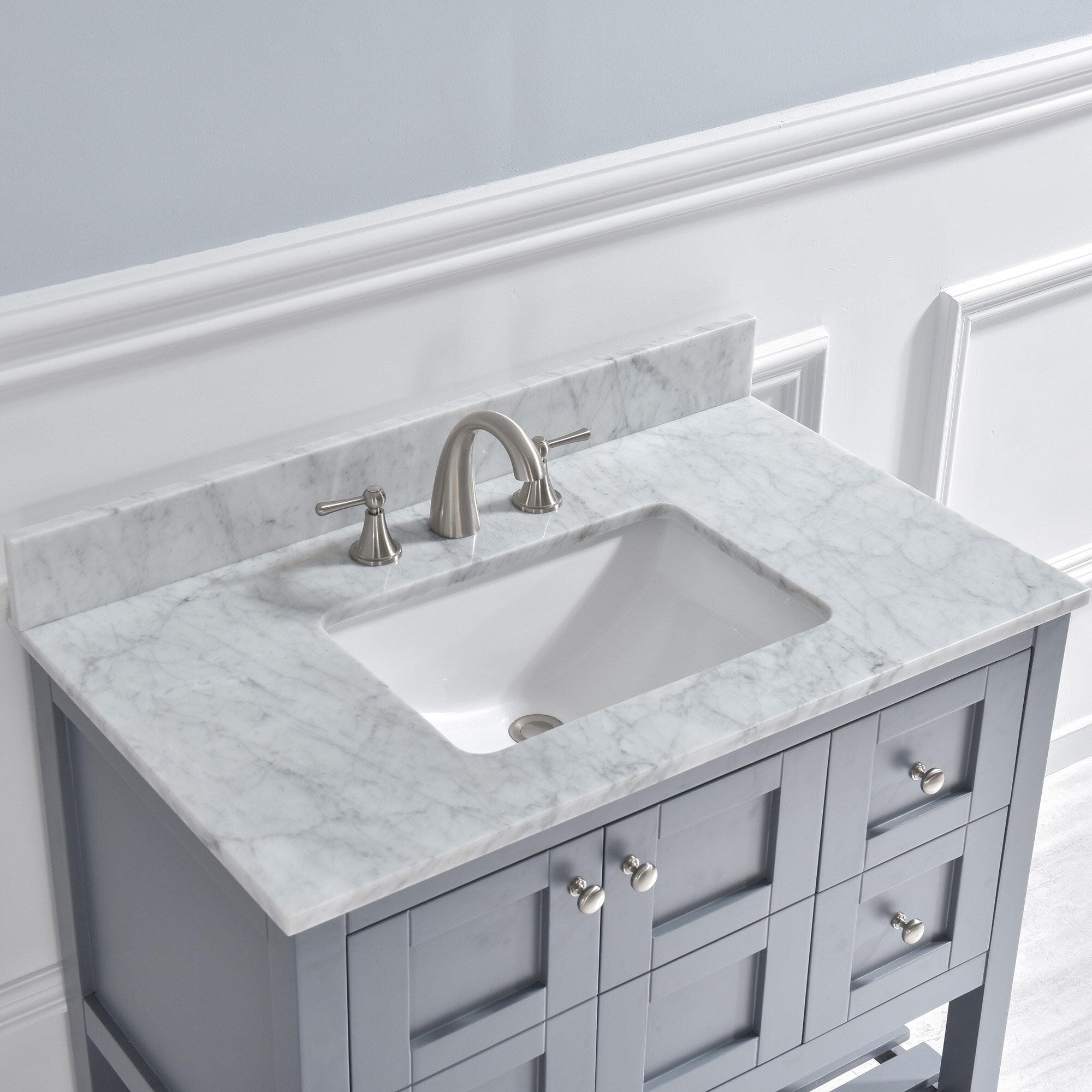 Woodbridge 43 Single Bathroom Vanity Carrara Marble With Sink Reviews Wayfair